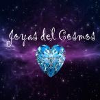 Joyas del Cosmos y un corazón azul rubí con un fondo espacial